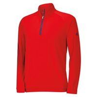 Adidas Boys 3 Stripe 1/2 Zip Pullover Red/Night Marine