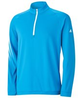 Adidas 3 Stripes Half Zip Pullover Bright Blue White