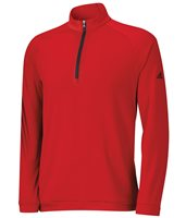 Adidas 3 Stripes Half Zip Pullover Power Red Black