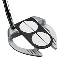 Odyssey Mens Works Versa 2 Ball Fang Lined Putter