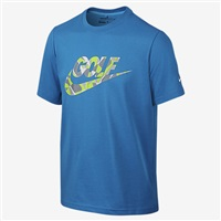 Nike Golf Boys Golf Camo T-shirt Blue/White