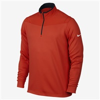 Nike Golf Mens Dri-Fit 1/2 Zip Long Sleeve Top Light Crimson/Black/White
