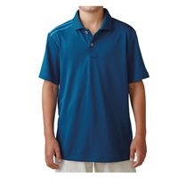 Adidas Boys Climacool 3 Stripes Golf Polo Eqt Blue/Shock Blue
