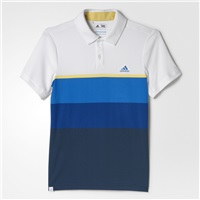 Adidas Climacool Engineered Striped Polo Junior White/Yellow