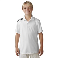 Adidas Junior Polo 3-Stripes Junior Climacool White/Black