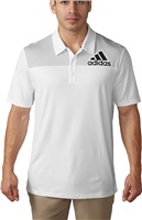 Adidas Mens Big Logo Dot-Print Polo Shirt White/Black