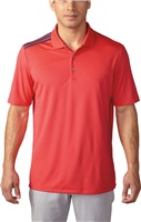 Adidas Mens Climacool 3-Stripes Polo Shock Red/Mineral Blue