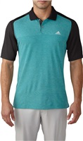 Adidas Mens Climacool Aeroknit Colour Block Golf Polo EQT Green/Black