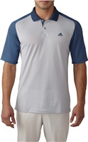 Adidas Mens Climacool Aeroknit Colour Block Golf Polo Mineral Blue/Stone