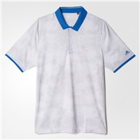 Adidas Mens Golf ClimaChill Dot Fade Shirt White/Stone