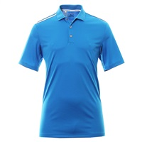 Adidas Mens Golf ClimaCool 3-Stripes Shirt Shock Blue/White