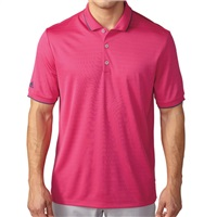 Adidas Mens Climacool Tipped Club Polo EQT Pink