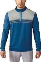 Adidas Mens Climacool Colour Blocked Quarter Zip Golf Top EQT Blue