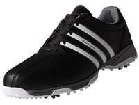 Adidas Junior 360 Traxion Golf Shoes Core Black/White/Iron Metallic