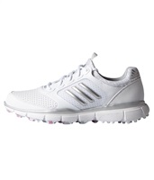 Adidas Womens Adistar Sport Golf Shoes White/Matte Silver/Wild Orchid