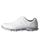 Adidas Adipure Classic Golf Shoes White/White/Silver Metallic