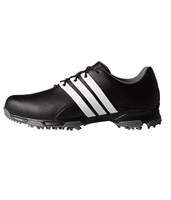Adidas Pure Traxion Golf Shoes Core Black/White/Dark Silver Metallic