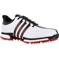 Adidas Tour 360 Boost Golf Shoes White/Core Black/Power Red