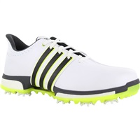 Adidas Tour 360 Boost Golf Shoes White/Core Black/Solar Yellow