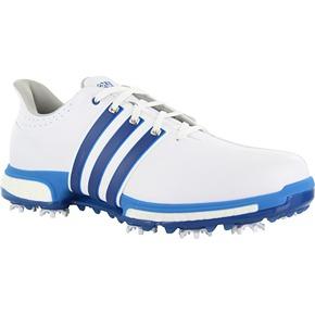 90496078a0ae Adidas Tour 360 Boost Golf Shoes White EQT Blue Shock Blue.