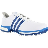 Adidas Tour 360 Boost Golf Shoes White/EQT Blue/Shock Blue