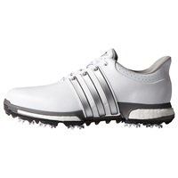 Adidas Tour360 Boost Golf Shoes White/Silver Metallic/Dark Silver Metallic