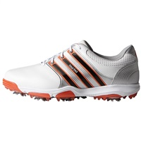 Adidas Tour360 X Golf Shoes White/Core Black/Super Orange