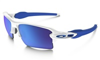 Oakley Flak 2.0 XL Sunglasses Polished White Frame/Sapphire Iridium Lens