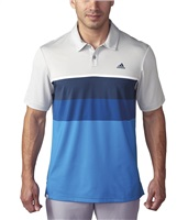 Adidas Climacool Engineered Striped Polo Shirt Stone/White/Blue
