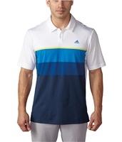 Adidas Climacool Engineered Striped Polo Shirt White/Light Yellow/Blue