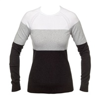 Calvin Klein Golf Ladies Colour Block Sweater Silver/White