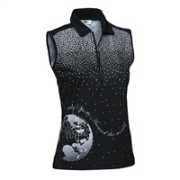 Daily Sports Ladies Ethel Sleeveless Polo Shirt Black