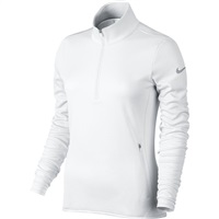 Nike Golf Ladies Thermal Half Zip Golf Jacket White/White/Wolf Grey