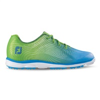 FootJoy Ladies emPOWER Spikeless Waterproof Golf Shoes Lime Green/Light Blue