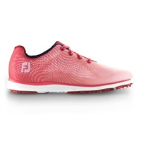FootJoy Ladies emPOWER Spikeless Waterproof Golf Shoes Red/Pink