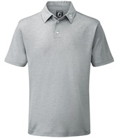 FootJoy Stretch Pique Solid Colour Athletic Fit Polo Shirt Heather Grey