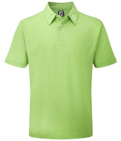FootJoy Stretch Pique Solid Colour Athletic Fit Polo Shirt Lime
