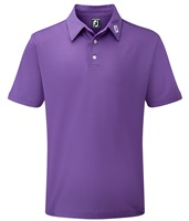 FootJoy Stretch Pique Solid Colour Athletic Fit Polo Shirt Purple
