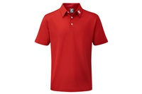 FootJoy Stretch Pique Solid Colour Polo Shirt Red