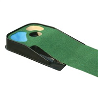 Masters Deluxe Hazard Putting Mat with Ball Return System