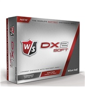Wilson DX2 Soft 12 Golf Balls White