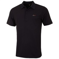 Greg Norman Performance Micro Pique Golf Polo Shirt Black 2016