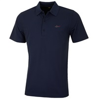 Greg Norman Performance Micro Pique Golf Polo Shirt Navy 2016