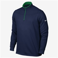 Nike Golf Dri-Fit Half Zip Long Sleeve Golf Top Midnight Navy/Lucid Green/White 2016