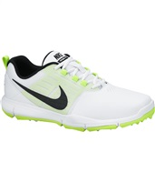 Nike Golf Mens Explorer Lea Golf Shoes White/Black/Volt