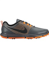 Nike Golf Mens Explorer Lea Golf Shoes Dark Grey/Total Orange