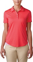 Adidas Ladies Essentials 3-Stripes Short Sleeve Golf Polo Shock Red/Wild Orchid 2016