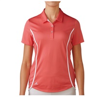 Adidas Ladies Essentials Climachill Sport Polo Shirt Sunset Coral/White 2016