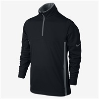 Nike Golf Boys Thermal Half Zip Top 2.0 Black/Wolf Grey 2016