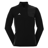 Adidas Club Performance Half Zip Sweater Black Heather 2016